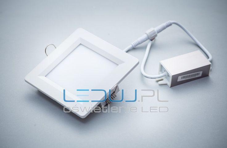 Panel LED Greenie Square 4W 100x100mm 230V z zasilaczem - IP40 - jest ok do łazienki