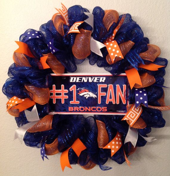 Hey, I found this really awesome Etsy listing at https://www.etsy.com/listing/225905008/nfl-denver-broncos-wreath-deco-mesh-26