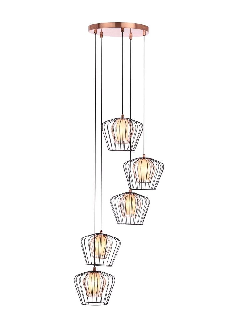 08053ce7ba6a Lowa caged copper cluster light. Matalan.   Lighting   Cluster ...