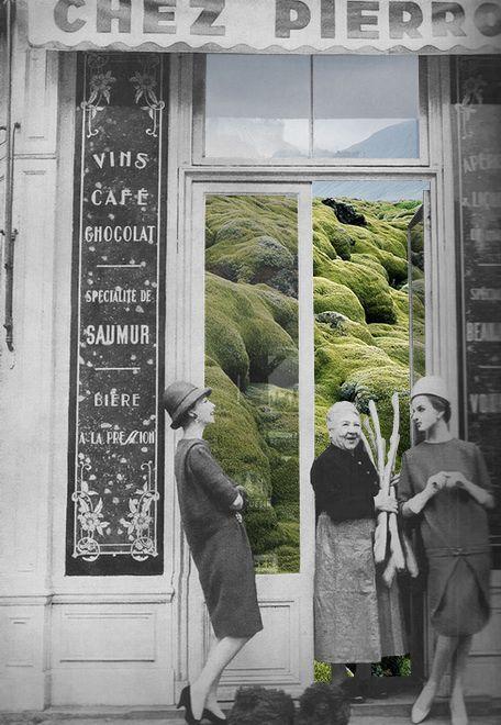 """""""Grass Shop"""" collage by Merve Ozaslan"""