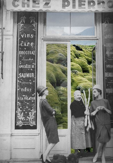"""Grass Shop"" collage by Merve Ozaslan"