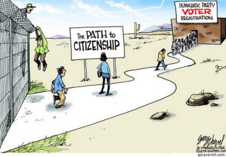 Path to Citizenship: Meg Aliens, Meg Immigrants, Politics Quotes, Gary Varvel, Conservation Politics, Funny Stuff, Citizenship, Politics Laughcri, Politics Cartoon