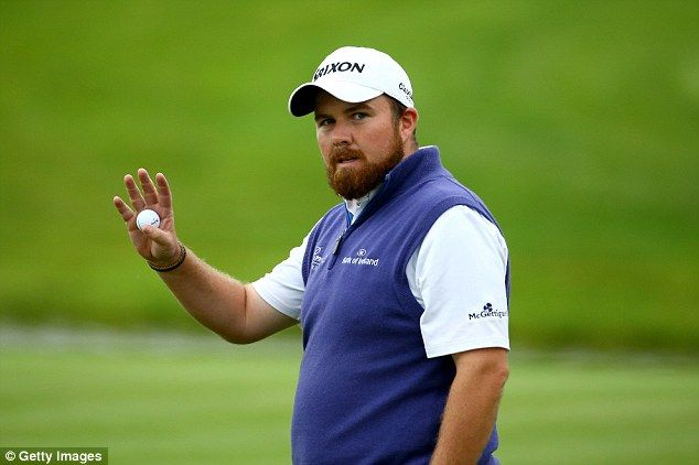 Shane Lowry shot a 65 to take a one-shot lead after the second round of the Wales Open  in Newport