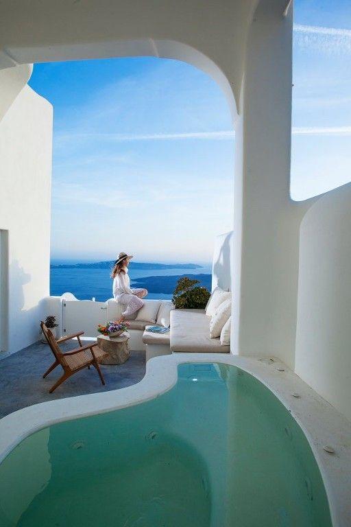 Imerovigli Villa Rental: 4 Bedroom Luxury Eco Friendly Villa With Outdoors Hot Tub And Fantastic Views | HomeAway