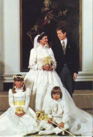 Prince Nikolaus of Liechesten and Princess Margaretha of Luxembourg in1982