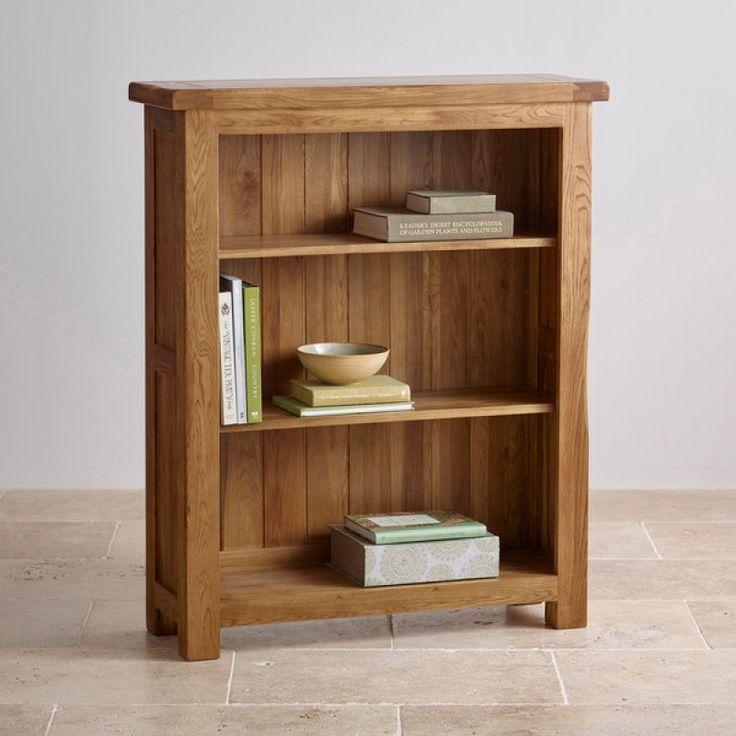 Original Rustic Solid Oak Small Bookcase