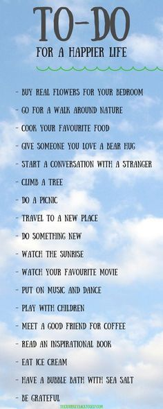 A simple to-do list for a happier life.