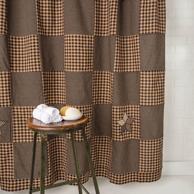 1000 ideas about primitive shower curtains on pinterest for Bathroom coordinate sets