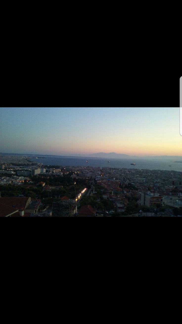 Greece Thessaloniki sunset kastra