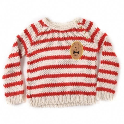 Knitter Striped Jumper by Bobo Choses