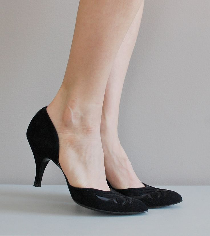 50s shoes with an interesting heel cut.  #cookwifeshoes  www.cook-wife-shoes.com