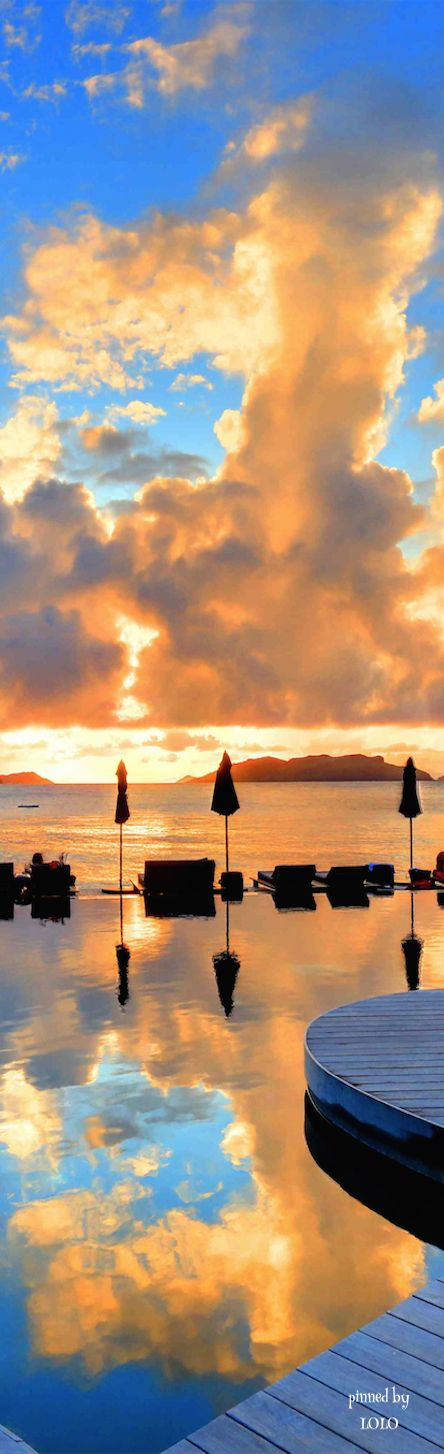 Add St. Barts to your bucket list. Spend the day poolside then watch the sun go down on this beautiful Caribbean island.