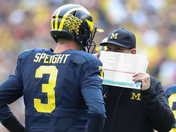 University of Michigan Wolverines head coach Jim Harbaugh