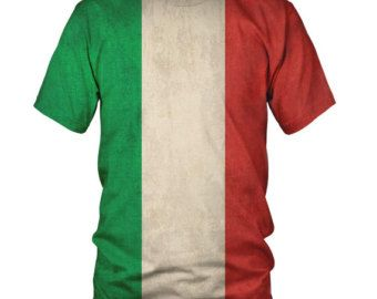 All Over 3D Italian Flag Fashion Mens And Ladies T-Shirt ...