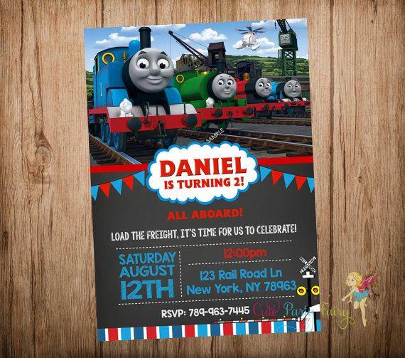 Thomas the Train Birthday Invitation Thomas and by CutePartyFairy