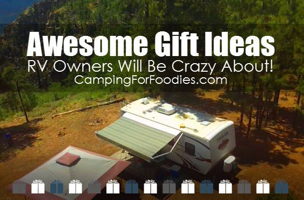 Looking for unique RV gift ideas? We found tons of them! From ingenious RV accessories and electronic gadgets to fun travel journals, maps, decor, clothing, kitchen and barware and more! We've got a great list of gift ideas RV owners will be crazy about!