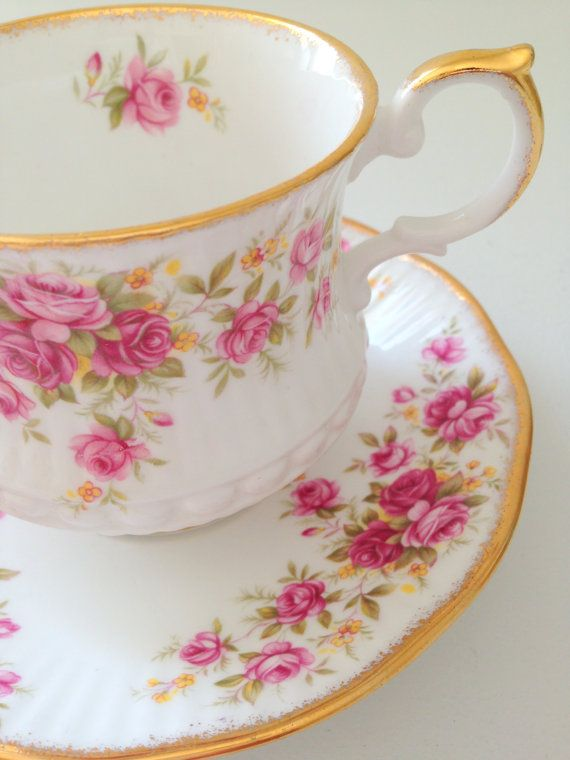 English Rosina Queen's Garden Tea Cup & Saucer