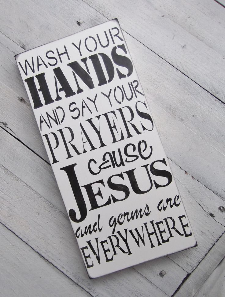 Funny bathroom sign kitchen sign Wash your hands by AndTheSignSays, $24.00