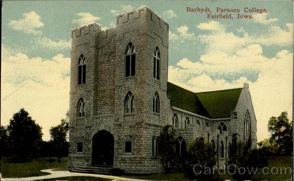 Barhydt Parsons College Fairfield Iowa