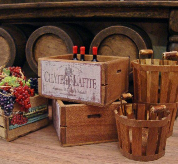 49 best miniature wine celler images on pinterest for Small wine crates