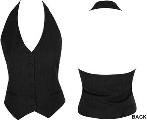 button up halter vest review at Kaboodle