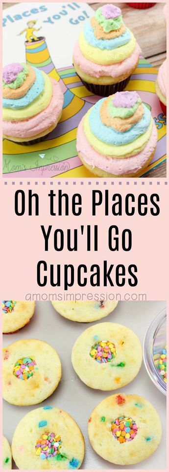 Dr. Seuss Oh the Places You'll Go Cupcakes with a Hidden Surprise!