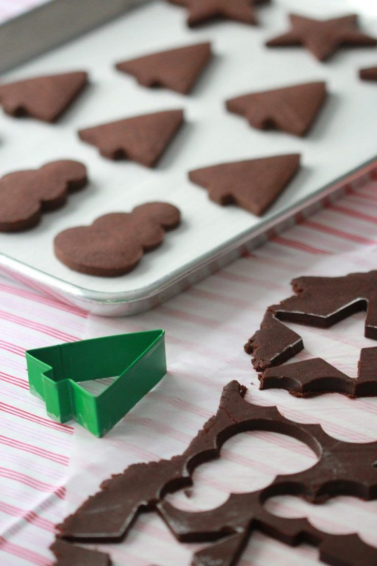 Recipe for Chocolate Sugar Cookies by Sweetopia
