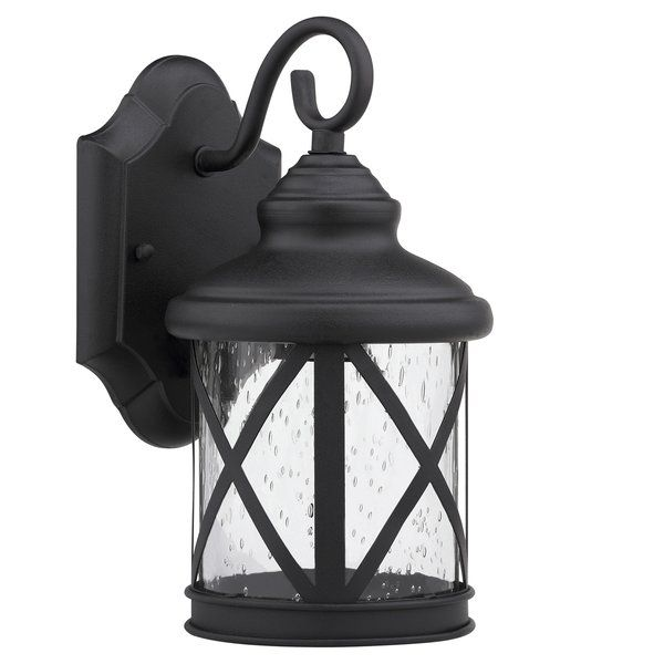 Enhance your outdoors with the Chloe Lighting Milania Adora 1 Light Outdoor Wall Sconce. It is available in various powder coated finishes to choose from. This wall lantern is constructed from aluminum and glass that makes it strong and reliable. It is fade, UV and fade resistant that makes it look like new for a long time. This sconce accommodates a 100W A19 LED, CFL, or incandescent bulb. It has a transitional style and works on 120 volts with gasket included. This wall lantern can be…