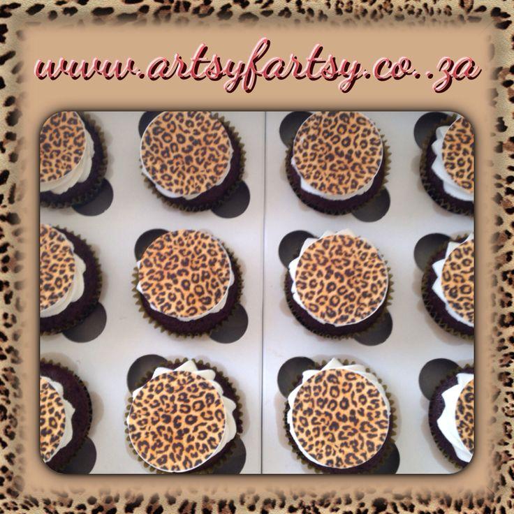 Leopard Skin Cupcakes