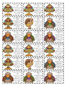 Thanksgiving Mini-Notecards freebie
