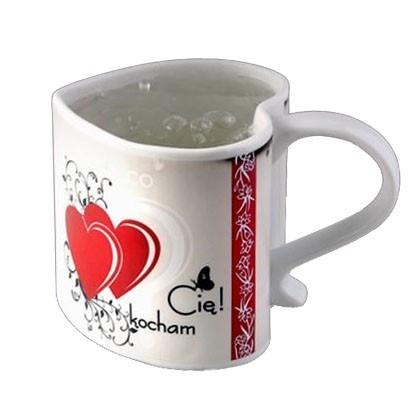 "Zaskakujący kubek ""Kocham Cię""/ Magic mug"