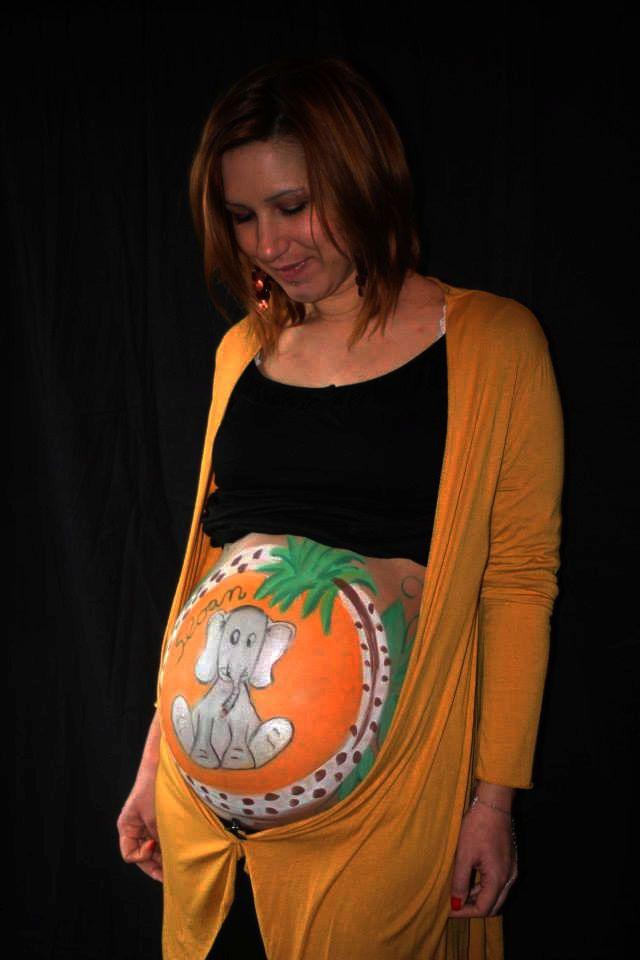 peinture sur ventre de femme enceinte, belly painting