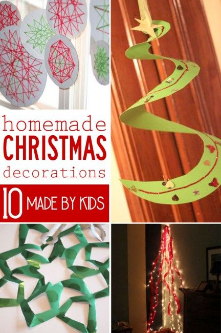 10 homemade christmas decorations for kids to make for Homemade decorations