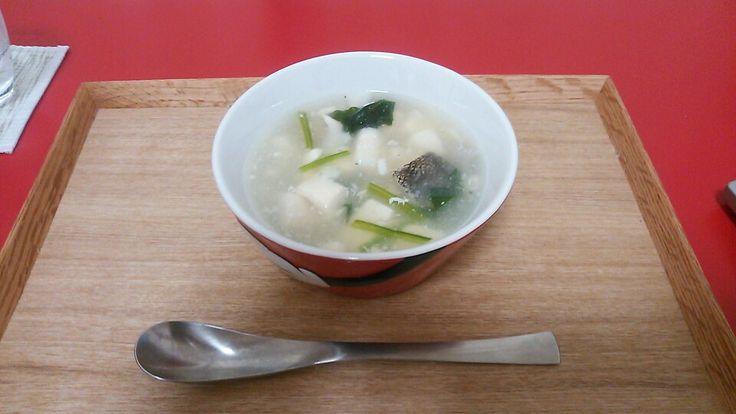 タラと豆腐の中華風スープ