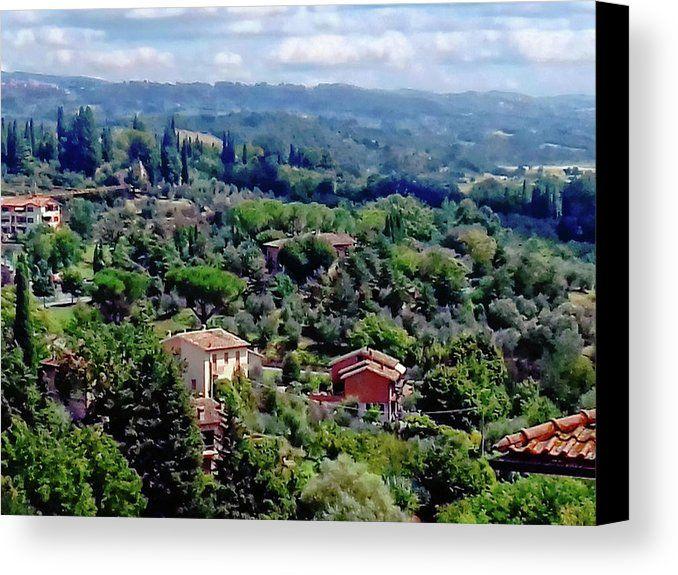 Cetona Canvas Print featuring the photograph Outskirts Of Cetona Tuscany 1 by Dorothy Berry-Lound #cetona #tuscany #toscana #italytravel