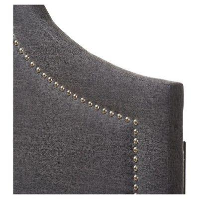 Rita Modern And Contemporary Fabric Upholstered Headboard - Queen - Dark Grey - Baxton Studio