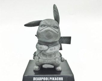 AWESOME Pikachu Cosplay Deadpool Figure Collectible Model Toy