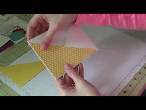 Stampin Up! - Making a Criss Cross card - YouTube