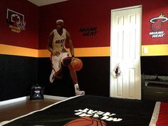 Miami Heat Kids Bedroom......  this is how my son wants his room.. going switch the colors up though