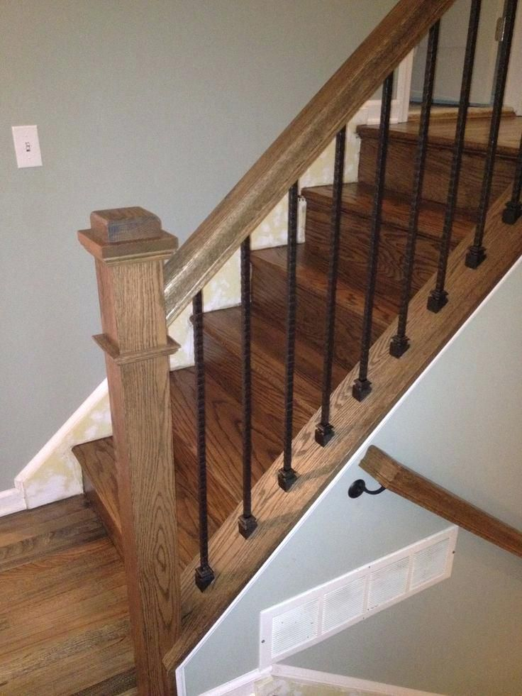 Ideal Cost To Install Stair Railing And Balusters Wood Stairs Rustic Stairs Interior Railings