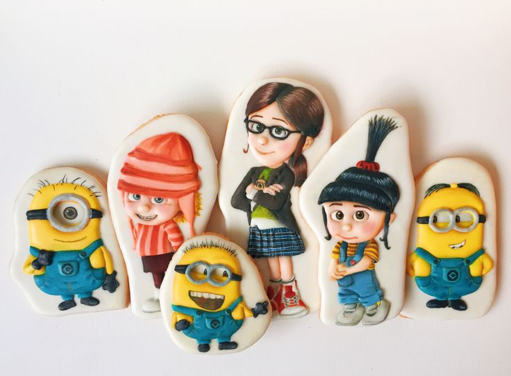 Despicable me/ the minions sugar cookies