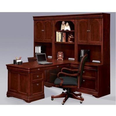 Dmi Chocolate Patina Finish Partners Desk Wall Set