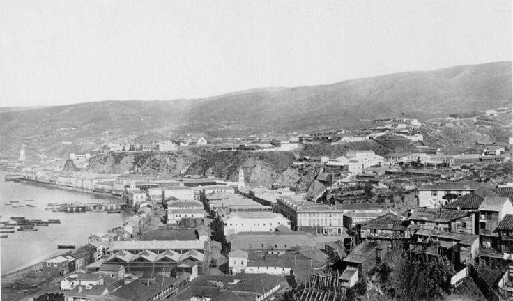 Valparaiso en 1864 Guillermo Lütjen MHN