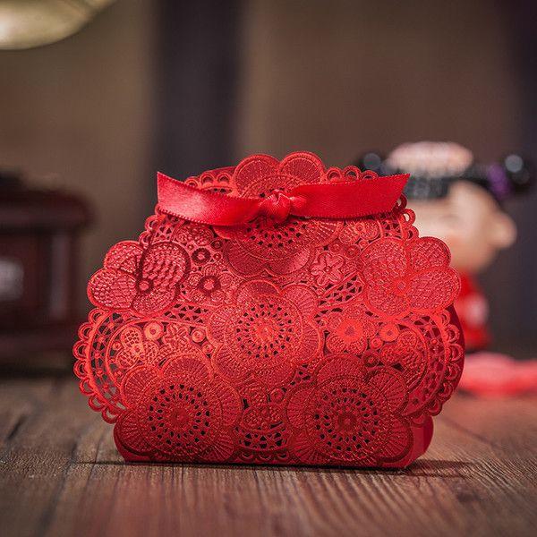 CD Simei жениться коробки конфеты венчания коробки конфеты красный китайский стиль 2016 новый полый бронзируя