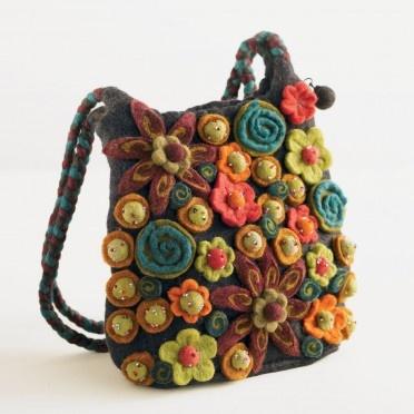 felted beaded bag