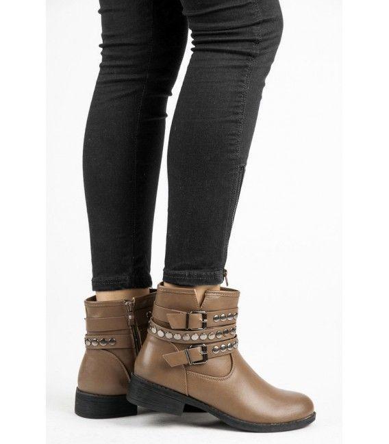 Členkové topánky s ozdobnou prackou 5166-17KH