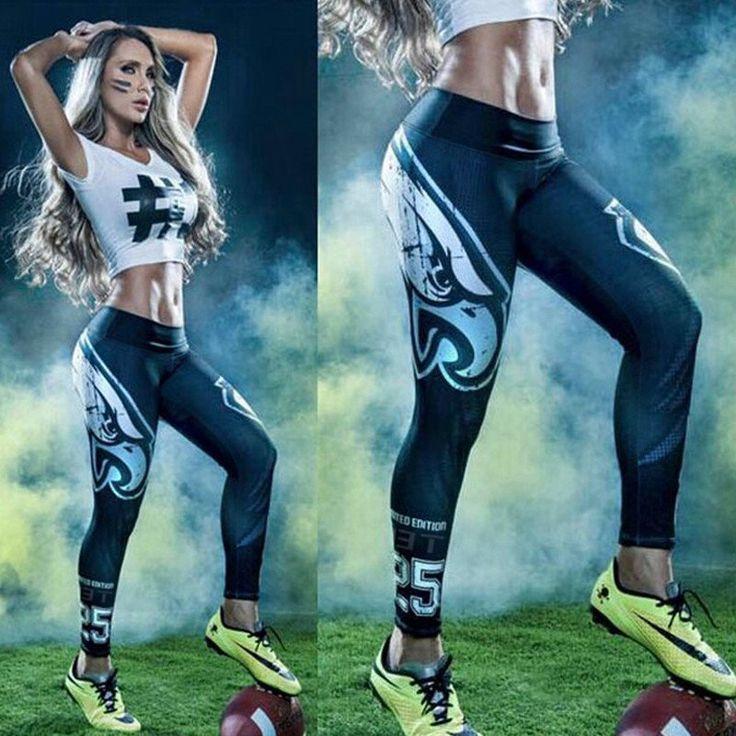 Classic  3D Print Women Sport Leggings Sexy Fitness Pants Female Elastic Running…