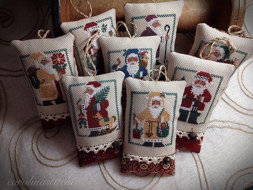 Prairie Schooler Santa collection  BEAUTIFUL Finishing work done by Faye!