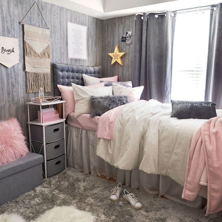 Faux Mongolian Pillow Rectangle College Bedroom Decor Small Room Bedroom Dorm Room Designs