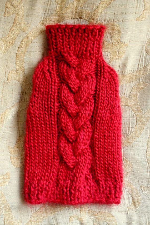 Perro rojo suéter suéter de cachorros ropa para por BubaDog en Etsy